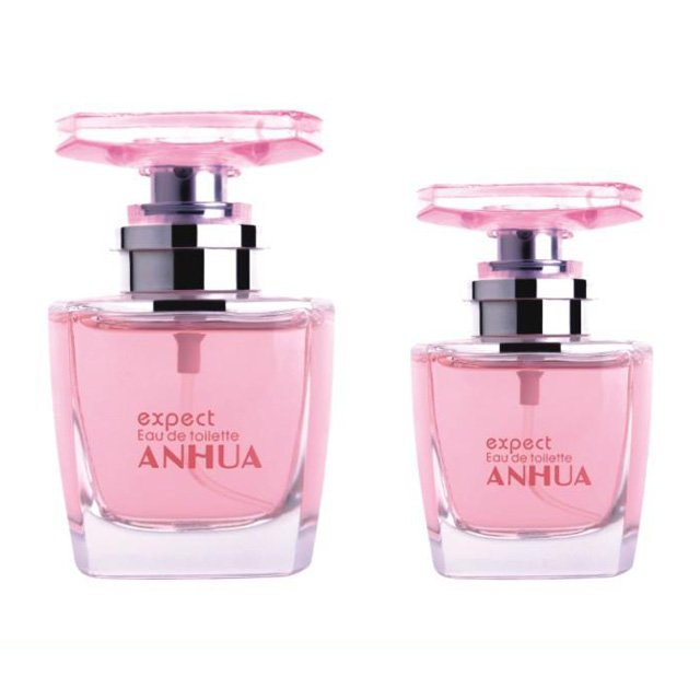Wholesale 50ml square perfume empty glass bottle with sprayer