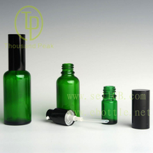 TP-2-26 glass essential oil bottle with anodized aluminum spray nazzle