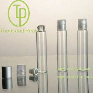 TP-3-23-1 10ml clear Roll On Bottles with plastic cover