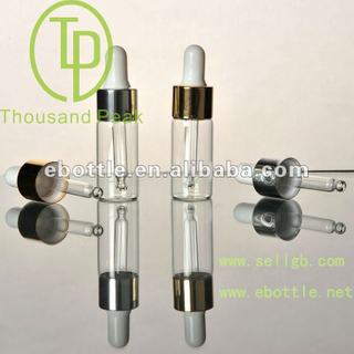 TP-2-12-3 5ml clear essential oil bottles with aluminum and dropper