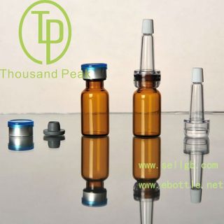 TP-2-01-2 2ml glassware, amber Bayonet bottles with butyl rubber stopper open aluminum alloy group and cosmetic packaging