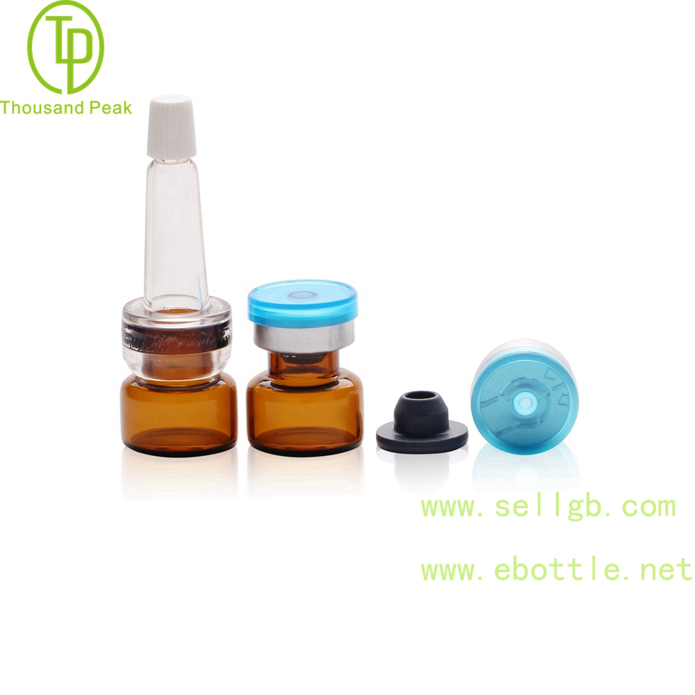 TP-2-110 cosmetic packaging tube 1.5 facial care glass bottle with soft trumpet head