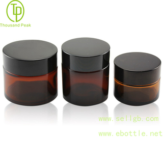 TP-2-100 Glass Jars, Amber Glass Straight Sided Jars