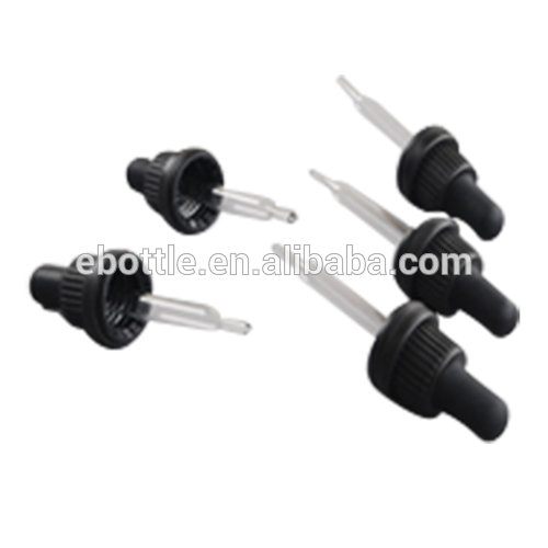 18/415 big head and TAMPER EVIDENT cap with straight glass pipette droppers and silicon,TPE,Butyl,NBR bulb.