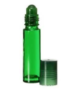 10ml Green roll on bottles for perfume,essential oils,Skin care