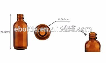 60ml Amber Glass Bottle 20mm-400