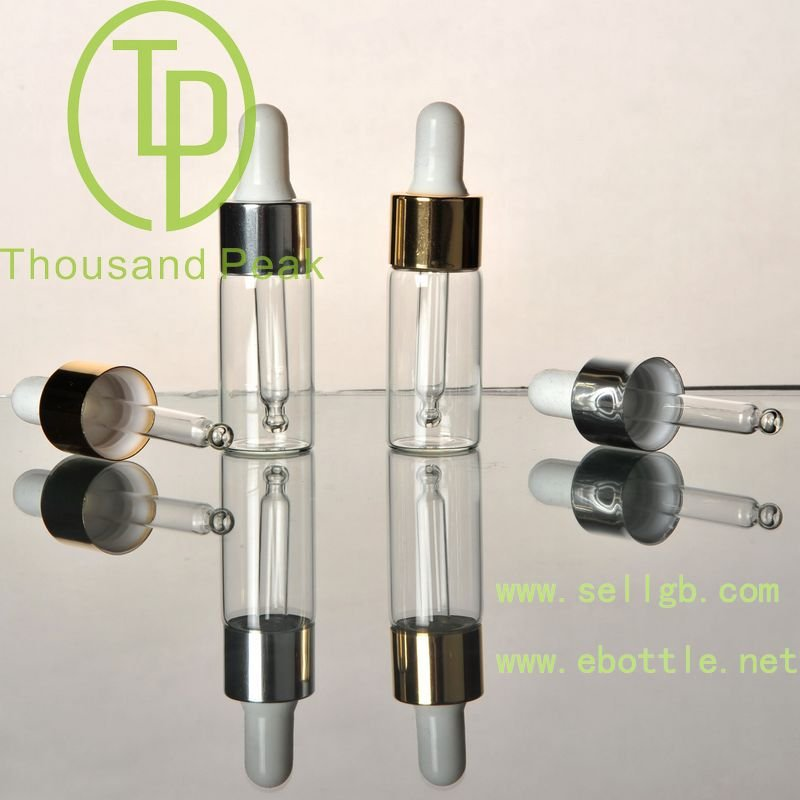 30ml UV silver glass cosmetic serum dropper bottles