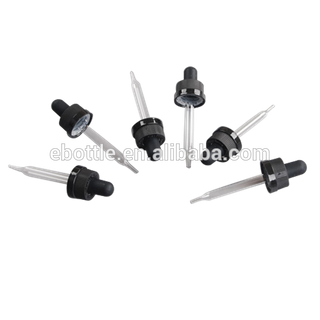 18/400 Thick Ribbed Child Resistant caps with straight glass pipette Boston Rounds droppers and silicon,TPE,Butyl,NBR bulb.