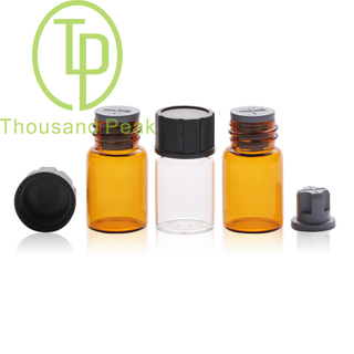 TP-1-099 7ml clear glass vials,glass bottles with black ,red cap