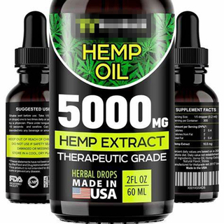 TP-2-81 Empty 1 oz CBD Oil Drops Black Bottles