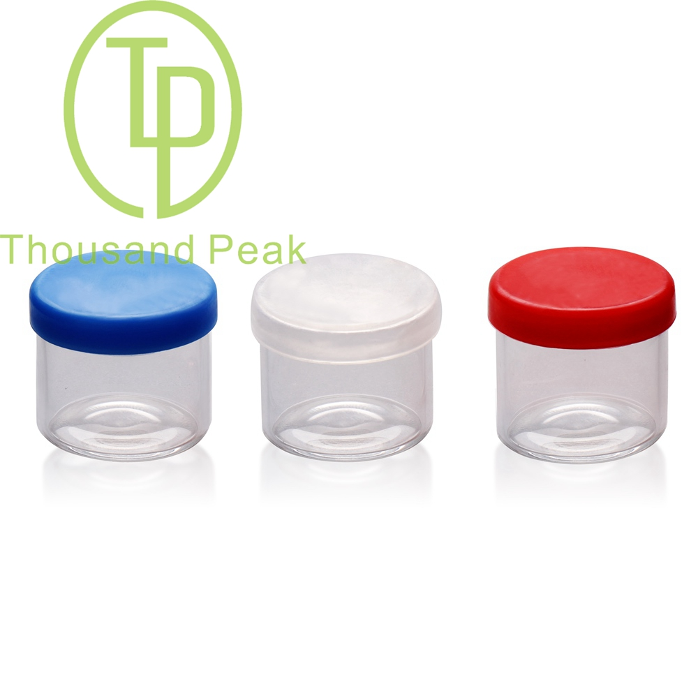 TP-1-72 4ml 6ml 8ml 10ml wholesale clear glass jar with silicon lid for Oils/Wax/Dabs cannabis