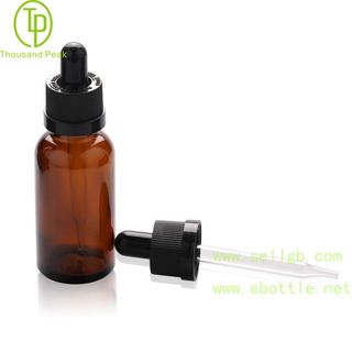 TP-2-72 amber glass bottle with tamper evident dropper