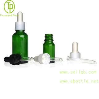 TP-2-23 Green glass bottle with dropper