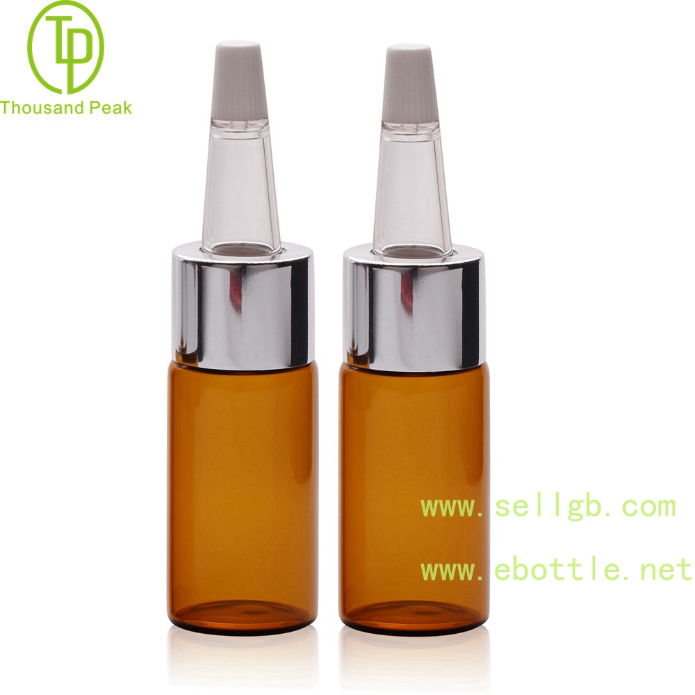TP-2-55 cosmetic packaging tube 5ml 10ml facial care glass bottle with soft trumpet head
