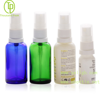 TP-2-53 Colorful cosmetic glass dropper bottle with tamper evident sprayer