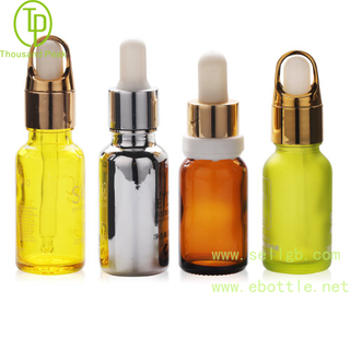 TP-2-54 Multi color Round cosmetic glass dropper bottle