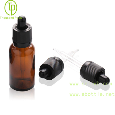 TP-2-71 amber glass bottle with child resistant tamper evident dropper