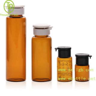 TP-2-120 essential oil glass bottle with tamper evident cap