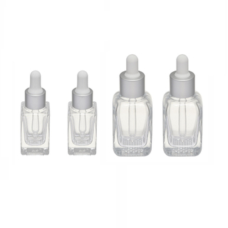 TP-2-32 20ml 35ml Square thick cosmetic glass dropper bottle 20-410